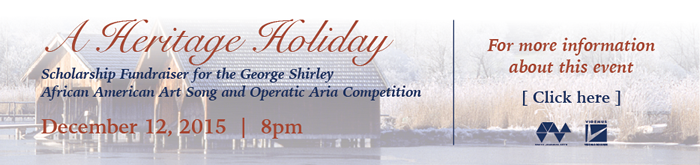 A Heritage Holiday Scholarship Fundraiser for George Shirley